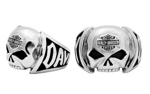 Harley-Davidson®-MOD®-H-D-Steel-Skull-Ring